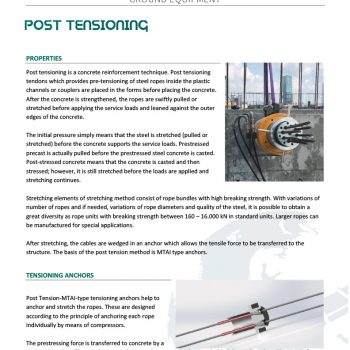 Post Tensioning